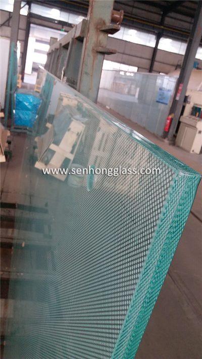 Chine 12mm + 1,78mm SGP + 12mm impression numérique Verre feuilleté trempé