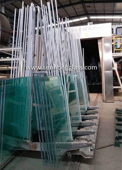 China 19mm jumbo tempered glass heat soaked testing senhong