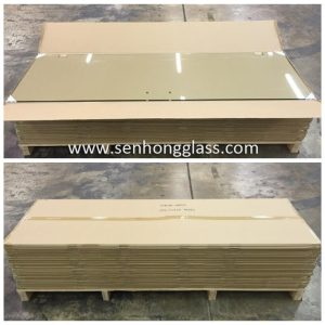 Verre trempé de Chine avec emballage en carton senhong