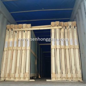 china laminated glass loading open top