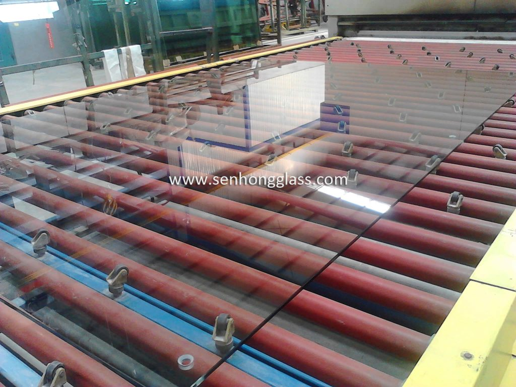 china tempered glass with countersunk holes 4-1