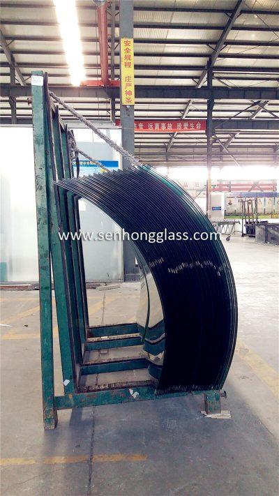 usine de verre feuilleté trempé courbé