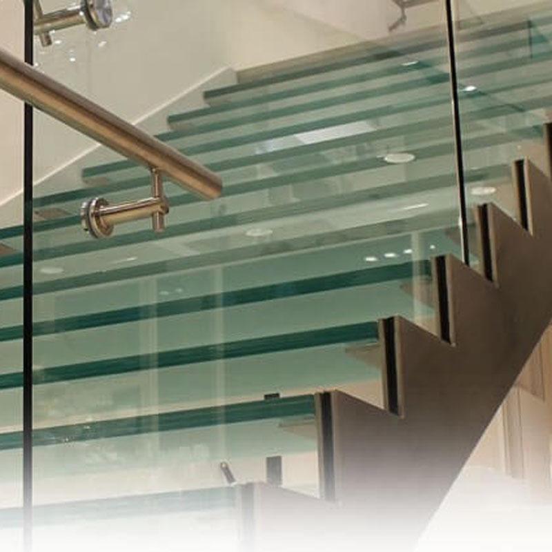 escaliers en verre 2