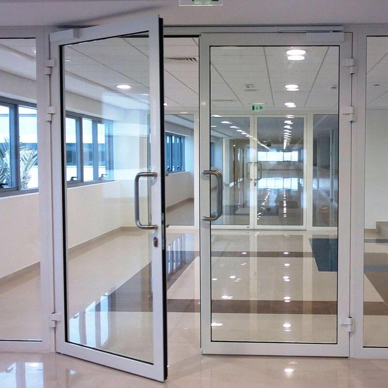 fabricant de portes en verre trempé Chine en verre senhong