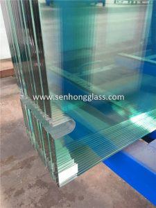 Verre trempé de 10 mm découpé dans de la porcelaine de verre senhong