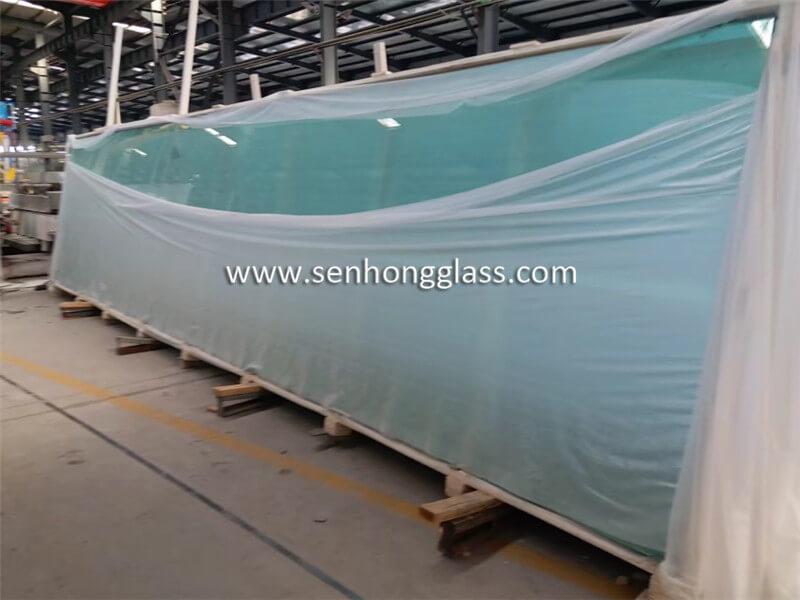 Verre trempé de 19 mm, emballage en verre senhong china