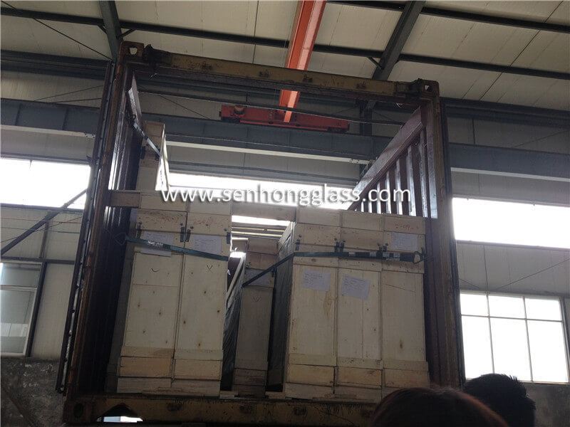 6.38mm clear laminated glass loading