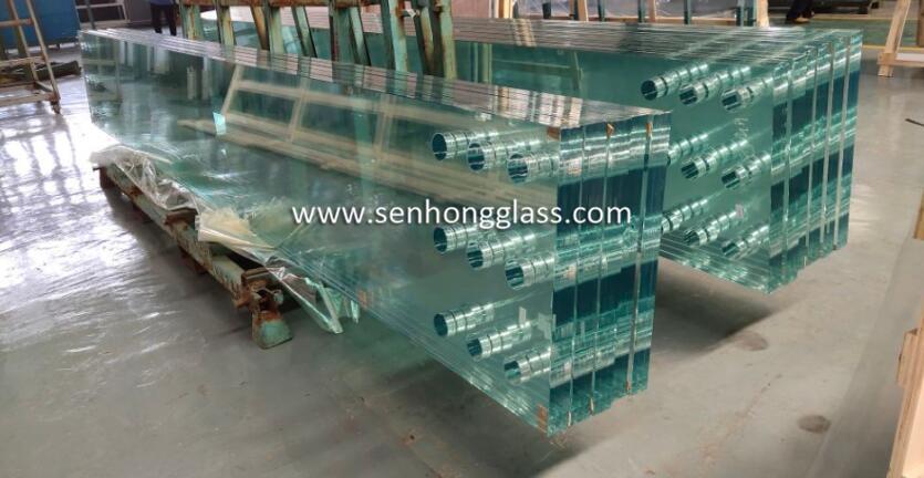 Verre laminé trempé à faible teneur en fer SGP Senhong Glass Chine